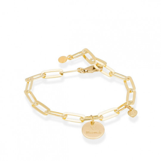 MOTHER'S BRACELET IN GOLD-PLATED SILVER 90630PCS