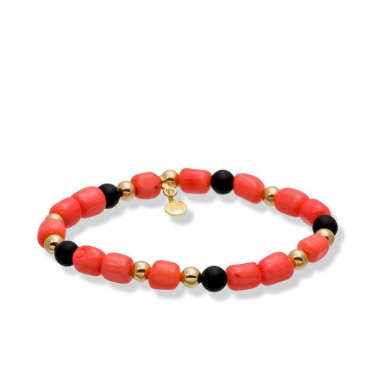 MARE CORAL BRACELET IN GOLD PLATED SILVER 90287UC