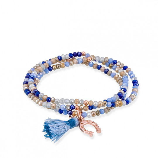 BLUE ZEN BRACELET IN PINK SILVER 90572UH