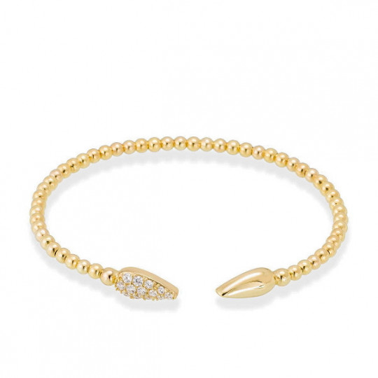 BRACELET WHITE TRICK IN GOLD PLATED SILVER 90682UD
