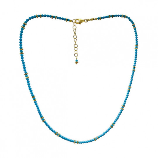 SILVER AND TURQUOISE CHOKER. AL1554
