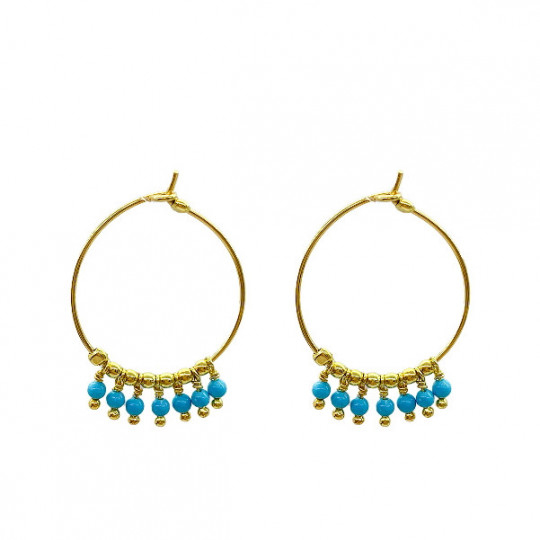 SILVER AND TURQUOISE EARRINGS. AL1563
