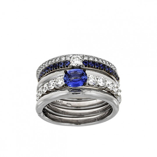 5 GOLD RINGS WITH SAPPHIRES