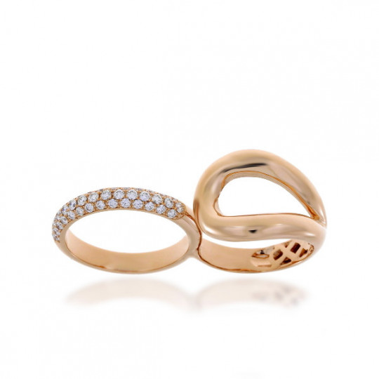 DOUBLE GOLD AND DIAMOND RING