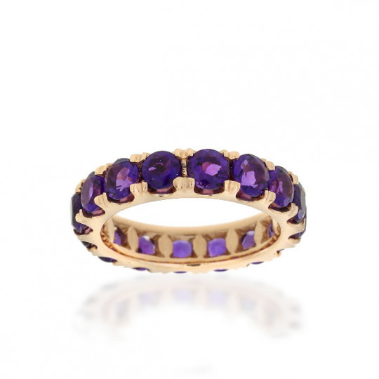 GOLD AND AMETHYSTS RING