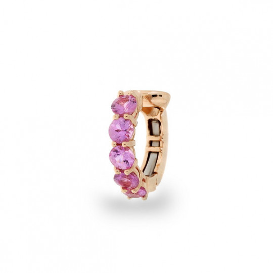 GOLD AND PINK SAPPHIRE PIERCING