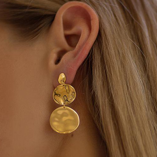 Circles With Glitter Earrings