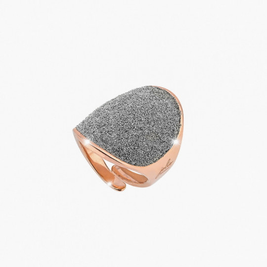 Pink Silver and Diamonds Ring