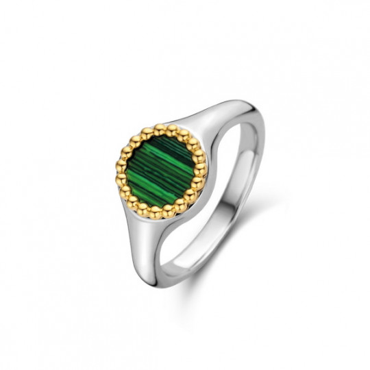 Stamp With Bezel And Malachite