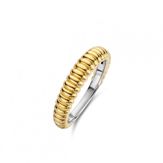 Gold Plated Ring With Rib Design