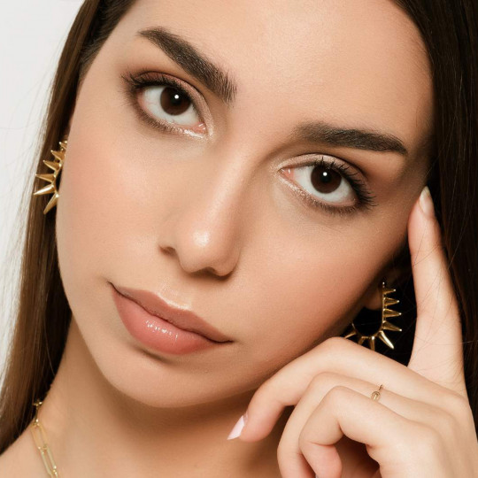 PUNK earrings in gold plated silver 90661PD