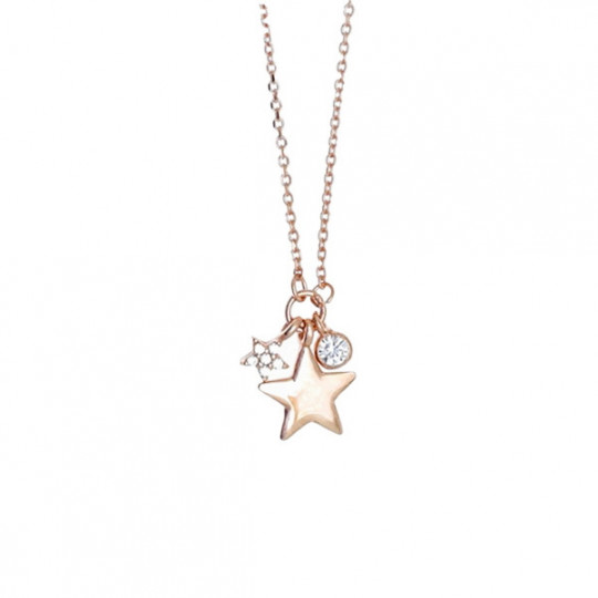 Necklace With Star And Zirconia