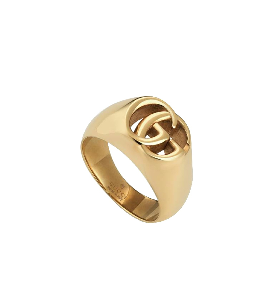 92f0e676997d8 GUCCI GG RUNNING YELLOW GOLD CHEVALIER RING 525732 J8500 8000 16 ...