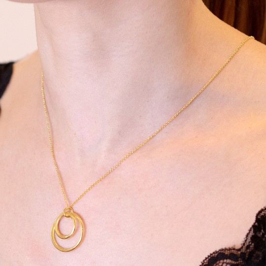GOLDEN NECKLACE DOUBLE CIRCLE