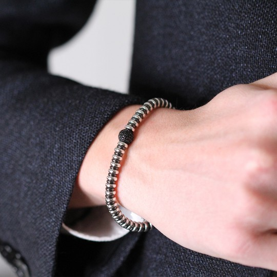 SILVER BRACELET WITH SPINELS