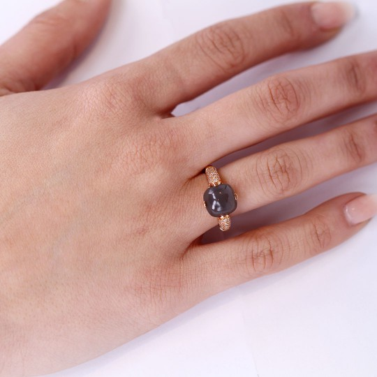 RING OF DIAMONDS AND MOONSTONE