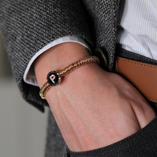 ROSE GOLD BRACELET WITH P INITIAL