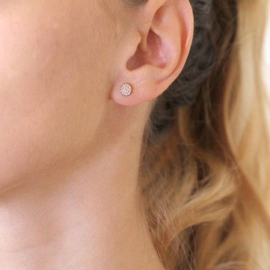 SHINY CIRCLE EARRINGS