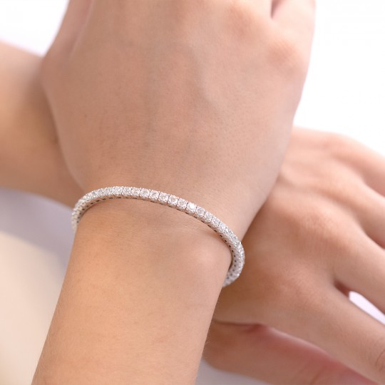ELASTIC BRACELET WITH DIAMONDS