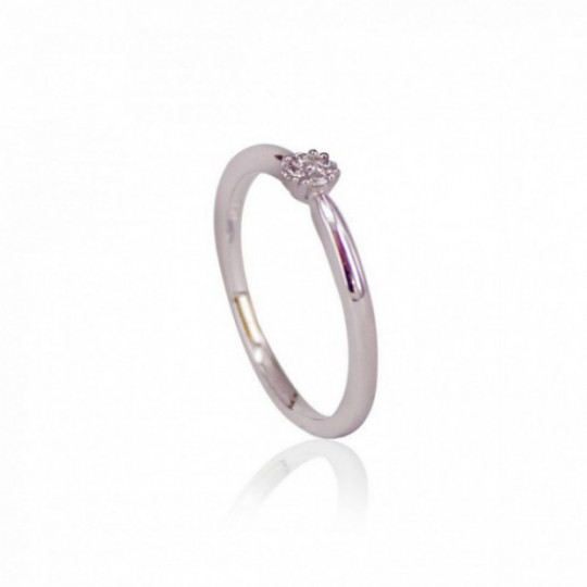 SOLITAIRE RING WHITE GOLD