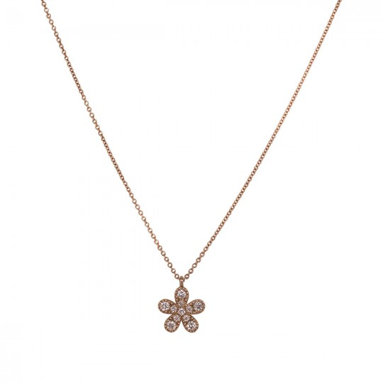 PENDANT FLOWER WITH DIAMONDS