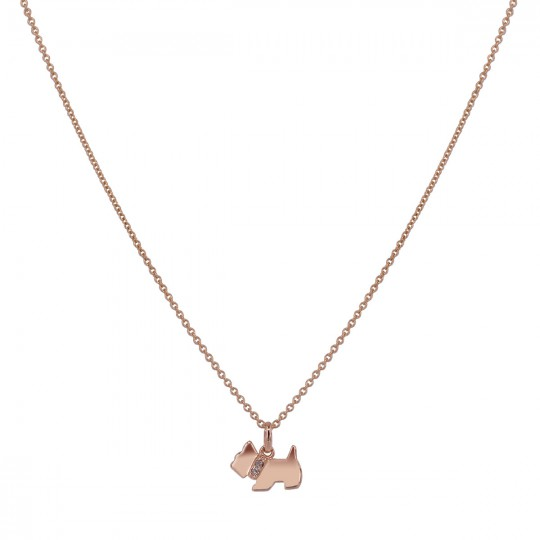 DOG PENDANT WITH DIAMOND NECKLACE