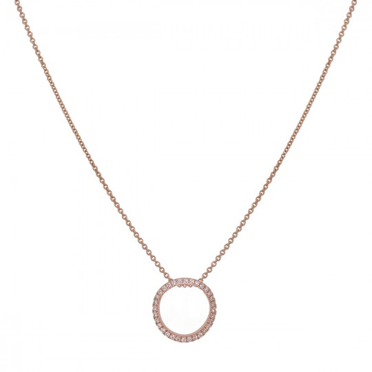 PENDANT WITH CIRCLE OF DIAMONDS