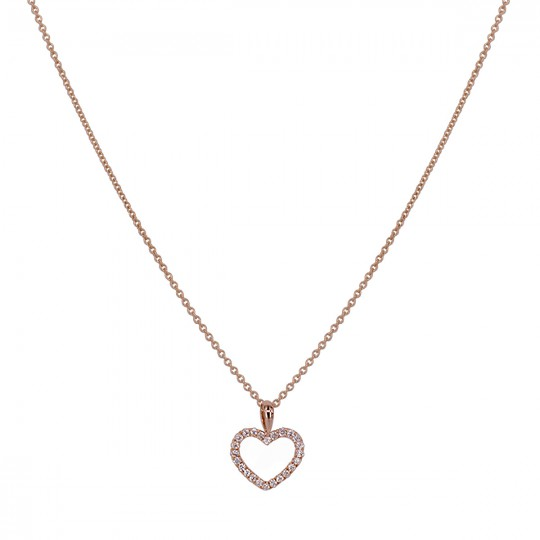 PENDANT WITH HEART OF DIAMONDS