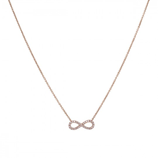 INFINITE PENDANT WITH DIAMONDS