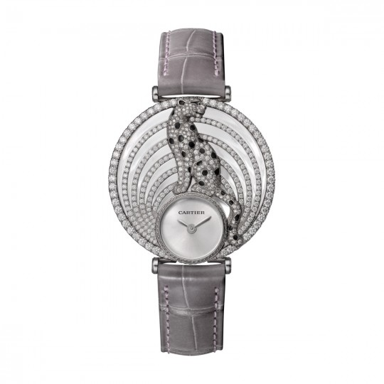 RELOJ ROYALE DE CARTIER HPI01014 36 MM, ORO BLANCO, PIEL, DIAMANTES
