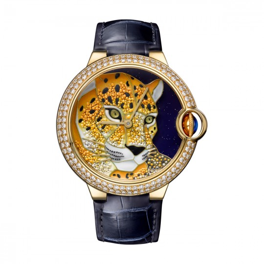RELOJ CARTIER D'ART BALLON BLEU DE CARTIER HPI01061 42 MM, ORO AMARILLO, PIEL, DIAMANTES