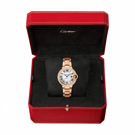 RELOJ BALLON BLEU DE CARTIER WE902064 33 MM, ORO ROSA, DIAMANTES