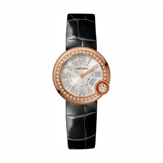 RELOJ BALLON BLANC DE CARTIER WJBL0004 26 MM, ORO ROSA, MANUAL, PIEL