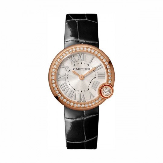 RELOJ BALLON BLANC DE CARTIER WJBL0005 30 MM, ORO ROSA, MANUAL, PIEL