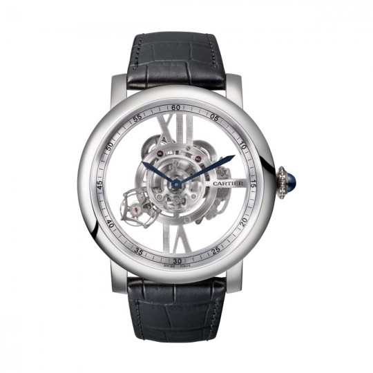 RELOJ ROTONDE DE CARTIER ASTROTOURBILLON ESQUELETO W1556250 47 MM, MANUAL, ORO BLANCO