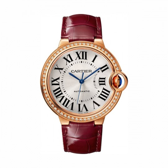 RELOJ BALLON BLEU DE CARTIER WJBB0034 36 MM, ORO ROSA, MANUAL, PIEL