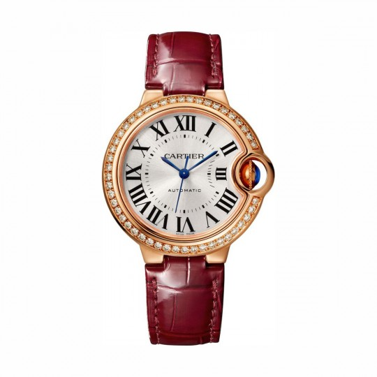 RELOJ BALLON BLEU DE CARTIER WJBB0033 33 MM, ORO ROSA, MANUAL, PIEL