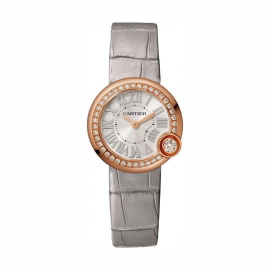 RELOJ BALLON BLANC DE CARTIER WJBL0006 26 MM, ORO ROSA, MANUAL, PIEL