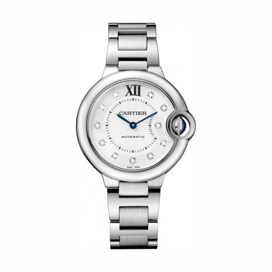RELOJ BALLON BLEU DE CARTIER WE902074 33 MM, ACERO, DIAMANTES