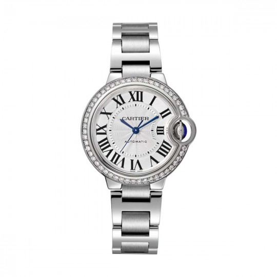 RELOJ BALLON BLEU DE CARTIER W4BB0016 33 MM, ACERO, DIAMANTES