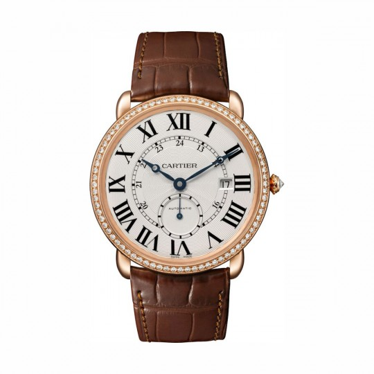 RELOJ RONDE LOUIS CARTIER WR007017 40 MM, ORO ROSA, DIAMANTES