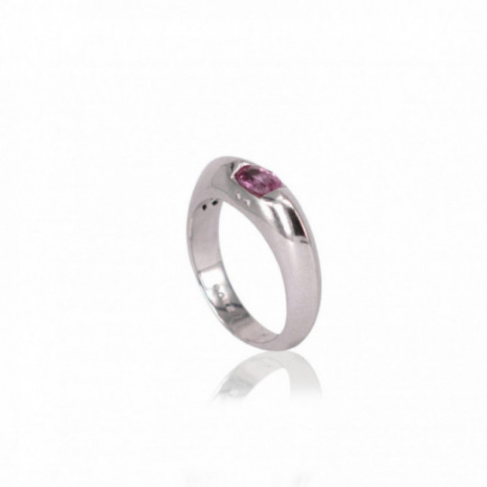 RING WITH ROSE SAPPHIRE AND DIAMONDS