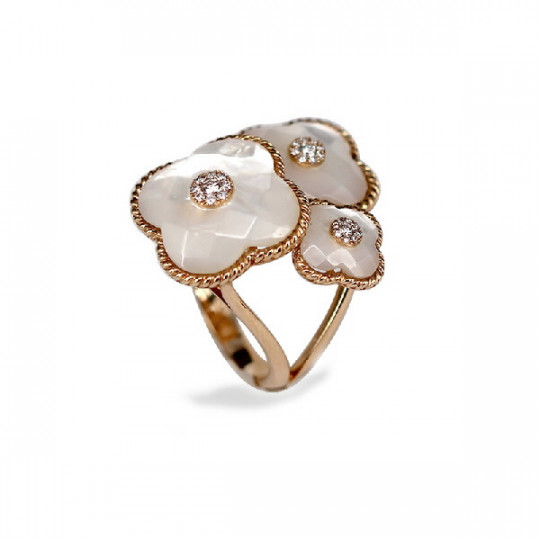 PINK GOLD RING & MOTHER PERLA